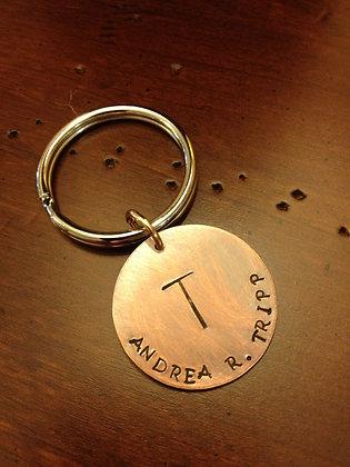 Single Initial Monogram Key Chain