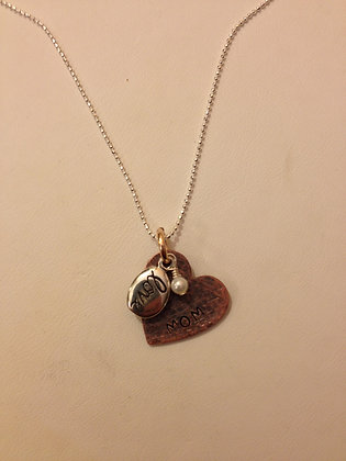 Mom Small Heart Necklace