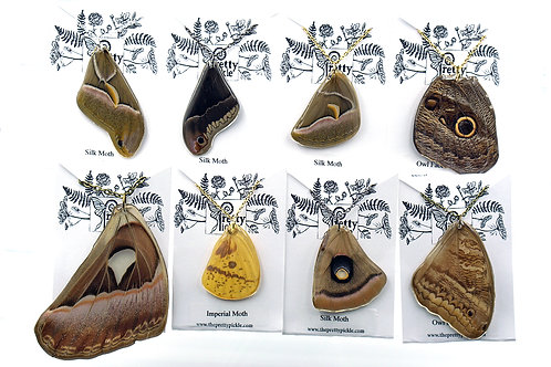 Moth Starter Pack 6 Moth Wing Necklaces