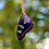 Thumbnail: Purple Spotted Swallowtail Butterfly Necklace, Forewing