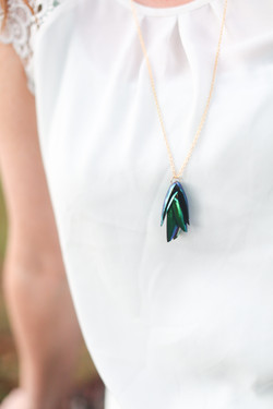 Elytra Beetle Necklace