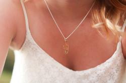 17 year cicada wing necklace