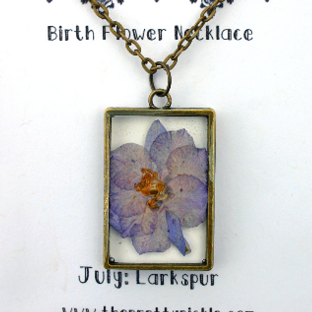 July Birth Necklace
