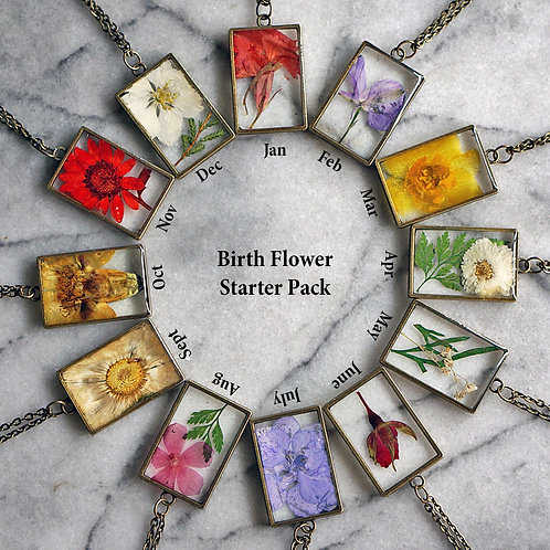 Birth Flower Necklace Collection