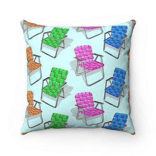 Lawn Chairs Spun Polyester Square Pillow