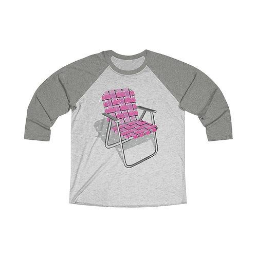 Lawn Chair Unisex Tri-Blend 3/4 Raglan Tee