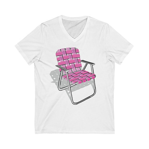 Lawn Chair Unisex Jersey Short Sleeve V-Neck Tee