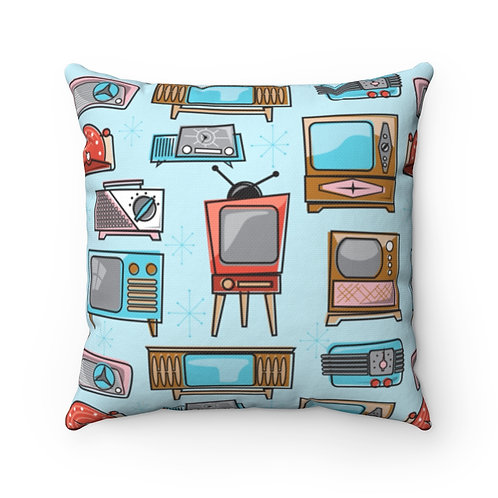 Radio TV Spun Polyester Square Pillow