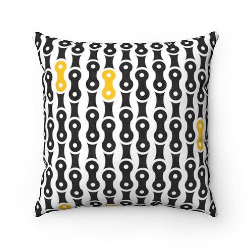 Bike Chain Spun Polyester Square Pillow