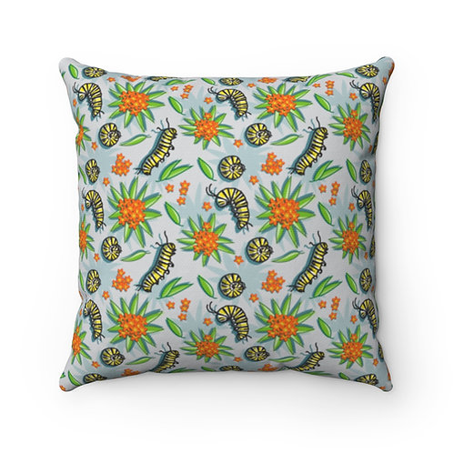 Caterpillar Spun Polyester Square Pillow