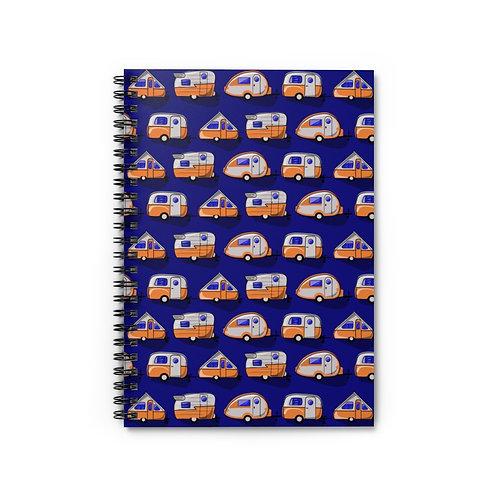Orange Little Campers Spiral Notebook - Ruled Line