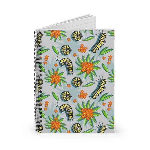 Caterpillar Spiral Notebook - Ruled Line