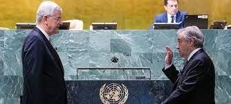 غوتيريش يقسم اليمين لولاية ثانية كأمين عام للأمم المتحدة، ويدعو إلى عهد جديد من التضامن والمساواة