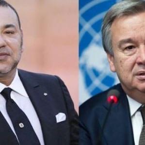 اتصال هاتفي بين الملك والامين العام للأمم المتحدة