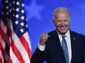 """المرشح الديمقراطي جو بايدن، إنه سيكون """"رئيسًا لجميع الأمريكيين""""، بمن فيهم من لم يصوتوا لصالحه"""