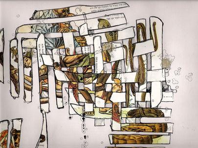 Reptilians,collage on paper,30/20cm,2007