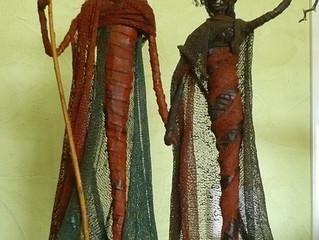 Expo 2015 : Sculptures d'inspiration Massaï de l'artiste Annick SIMON