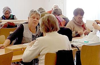 Atelier B.C.D à Chasseneuil du Poitou Association équipe de tavail POITIERS DEPARTEMENT VIENNE 86 REGION NOUVELLE AQUITAINE FRANCE ART ET TRADITION TOURISME CULTURE PATRIMOINE  HISTOIRE CREATION RESTAURATION CONFECTION DENTELLES BRODERIES COIFFES BONNETS NAPPERON