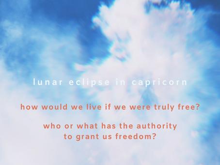 lunar eclipse in capricorn - july 4th, 2020