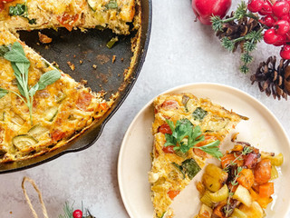 Holiday Brunch:Festive Frittata with Holiday Hash