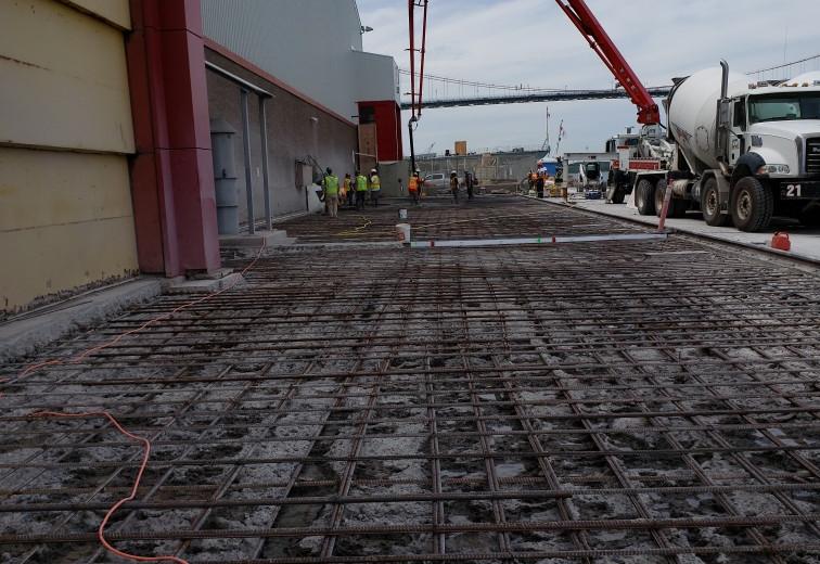 Large concrete pour