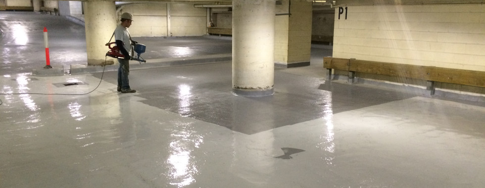 Parkade thin system waterproofing