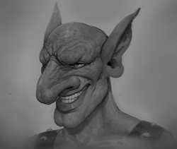 Gray Scale Practice-Male Goblin