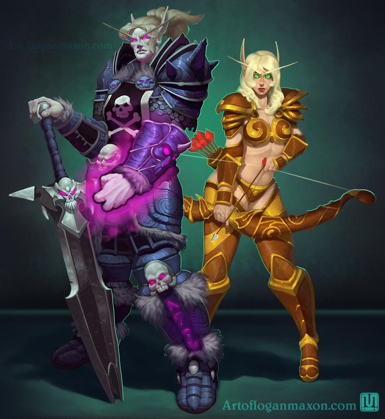 Commission-Blood Elf Couple