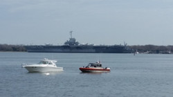 military base across the harbor