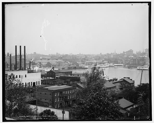 Baltimore harbor, 1910