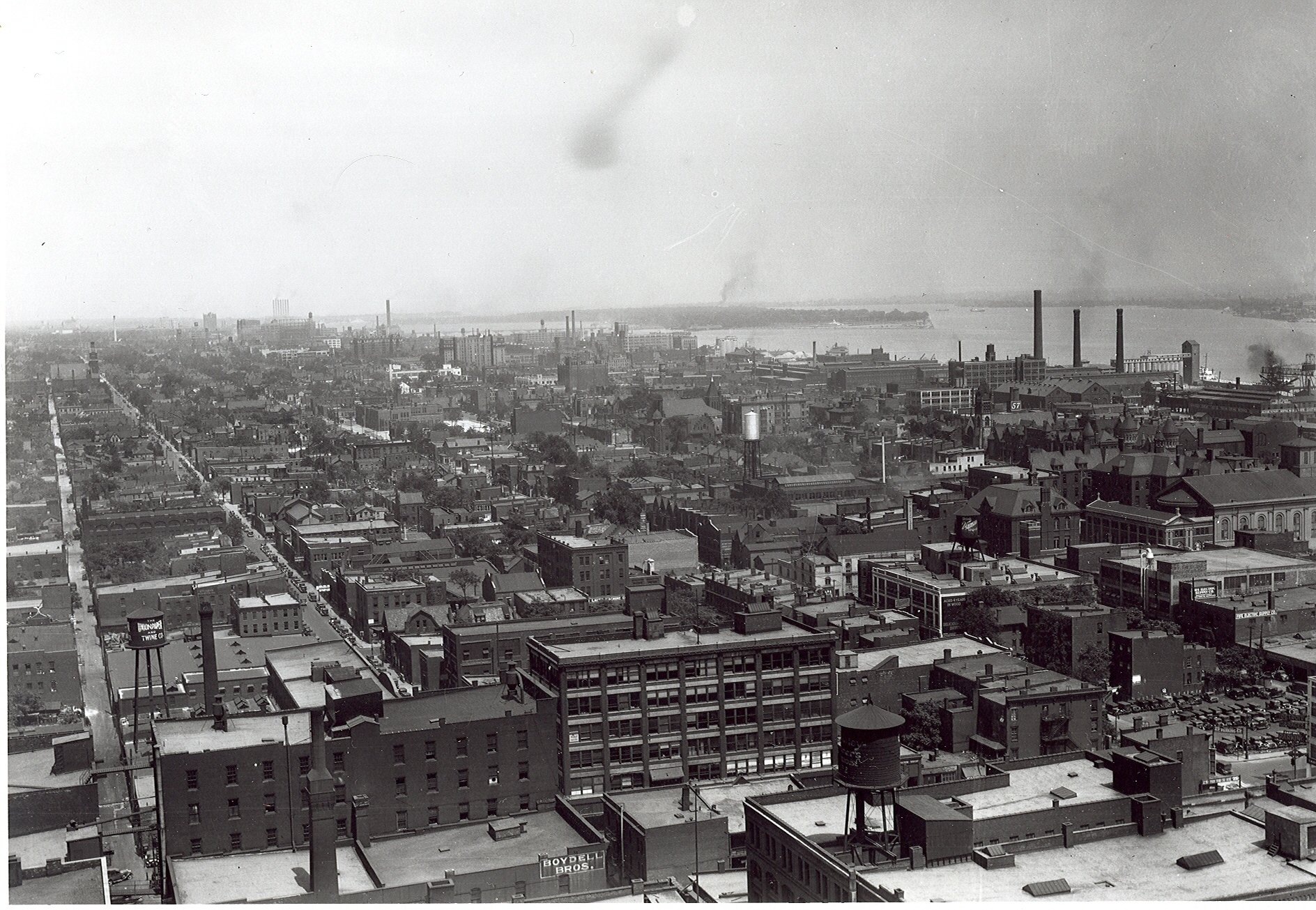 Detroit's dense eastside, 1930
