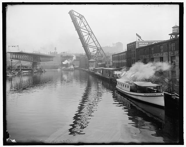 Cleveland lift bridge, 1903