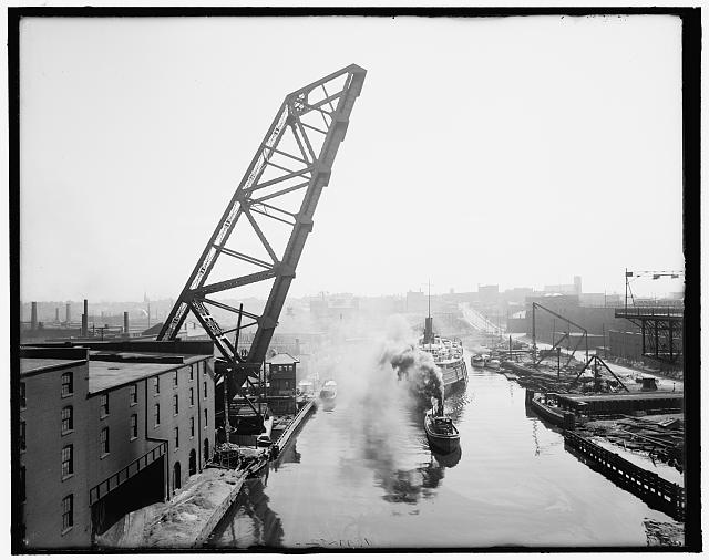Cleveland lift bridge 1903