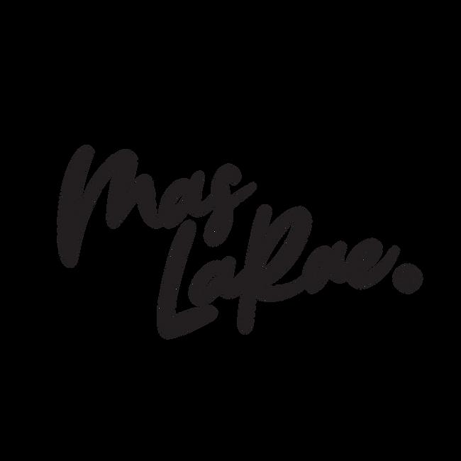 Mas LaRae top bottom logo black.png