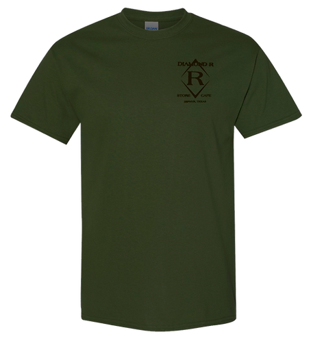 Can't Fix Stupid- Short Sleeve - Olive (Brown Ink)