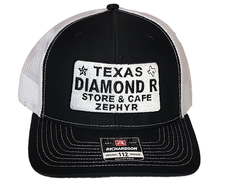 License Plate Hat - Black/White