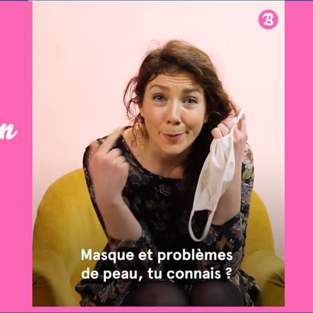 MASQUE ET PROBLEMES DE PEAU, TU CONNAIS ? (vidéo)