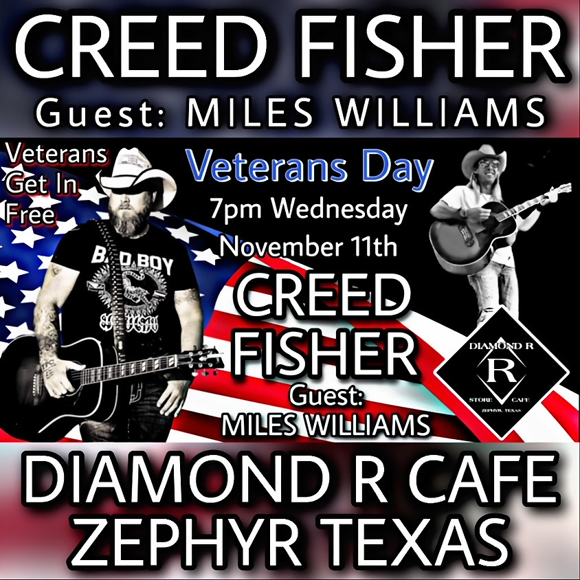 Creed Fisher w/ Miles Williams opening