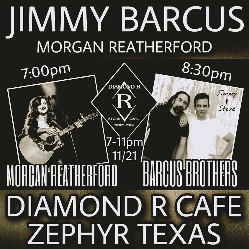 Jimmy Barcus Duo w/Morgan Reatherford Opening