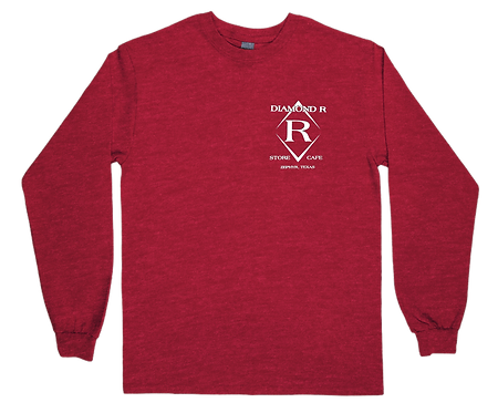 Where the heck is Zephyr, TX - Long Sleeve - Heather Red