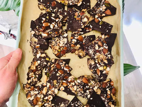 NUTTY CHOCOLATE BARK