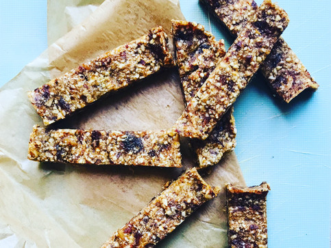 NO COOK PRESED FRUIT & NUT BARS