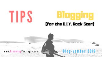 Tips for Blogging (for the D.I.Y. Rock Star)