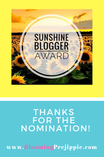 Sunshine Blogger Award: Thanks for the Nomination!