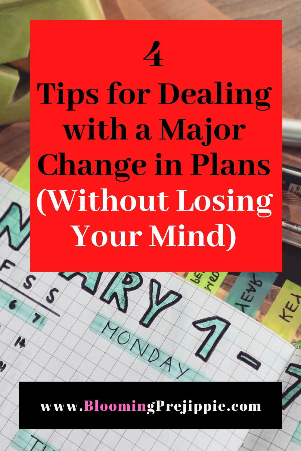 4 Tips for Dealing with a Major Change in Plans --Blooming Prejippie