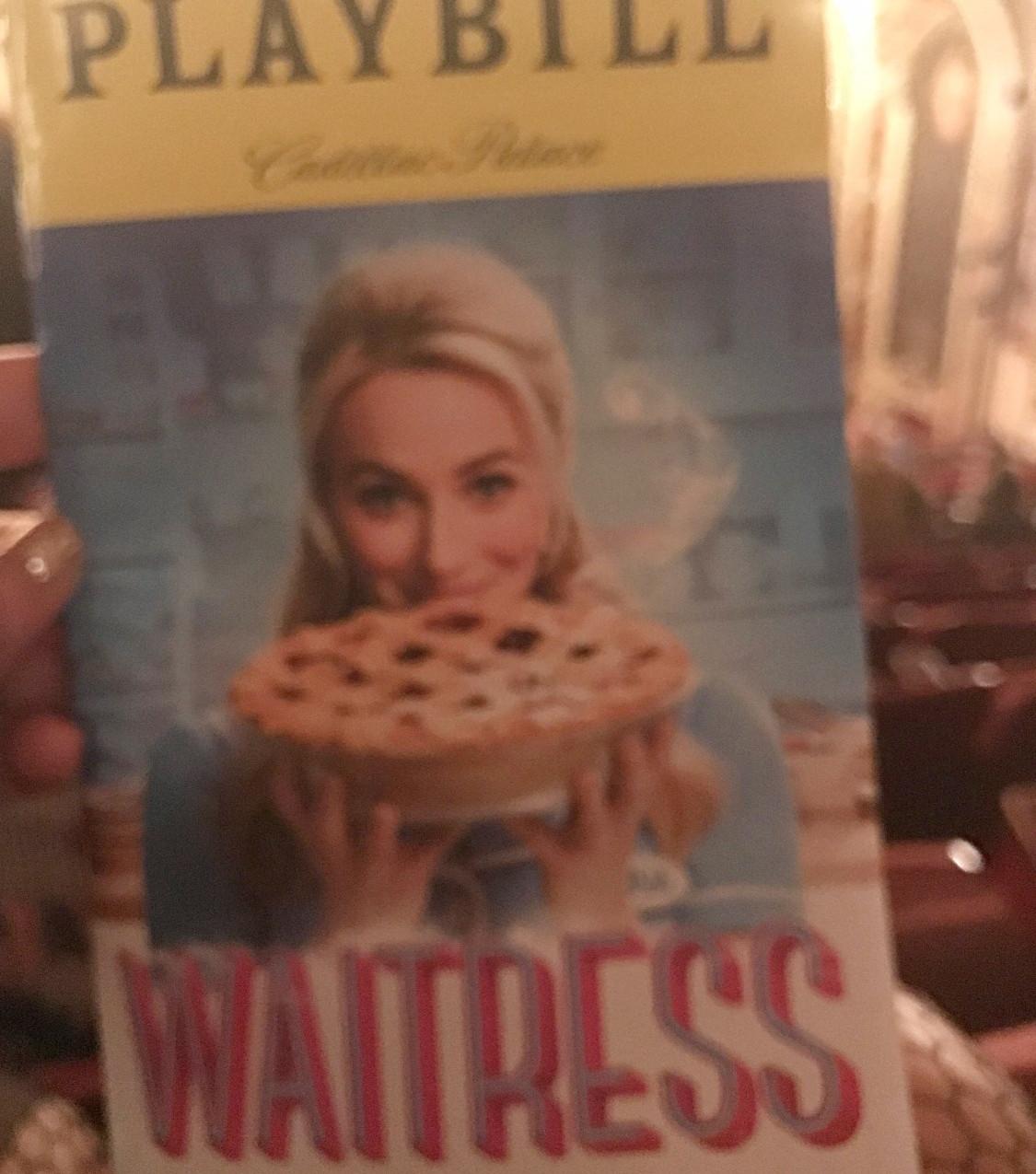 Playbills for Hamilton and Waitress
