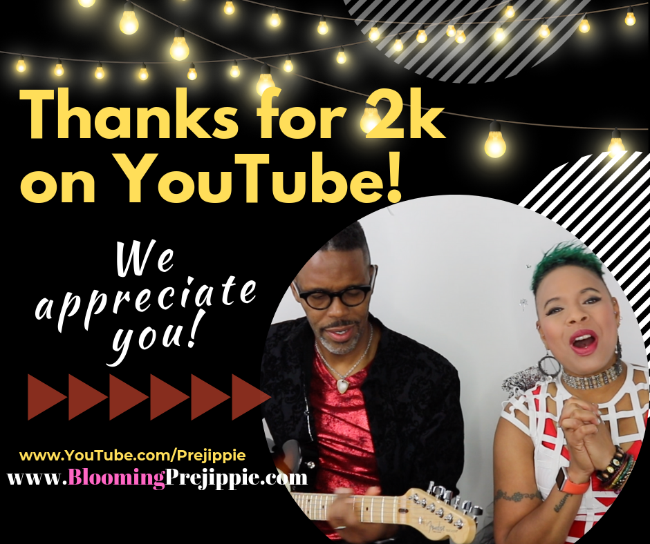 Thanks for helping us hit 2k YouTube subscribers! --Blooming Prejippie Zine