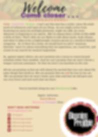 Welcome Letter Blooming Prejippie update