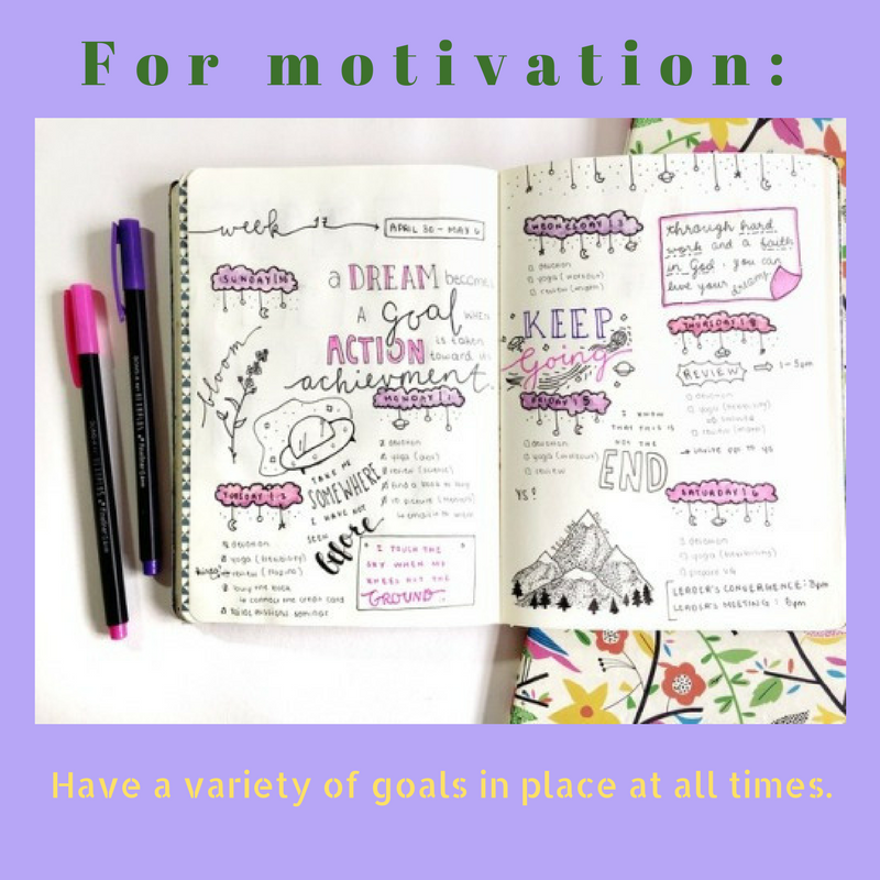 A variety of goals are important.  --Blooming Prejippie Zine
