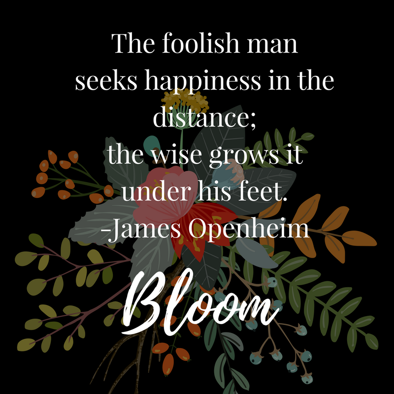Bloom.  --Blooming Prejippie Zine